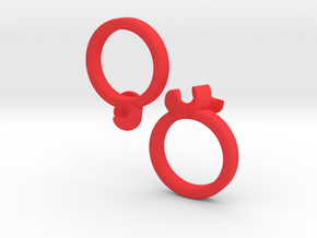 united-puzzle-ring in Red Strong & Flexible Polished