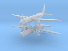 1/700 Ilyushin IL-114 Commercial Aircraft (x2) in Frosted Ultra Detail
