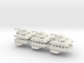 6 Missile Carrier x6 in White Strong & Flexible