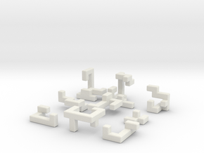 Switch Cube (3 cm) in White Strong & Flexible