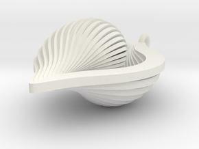 Shell Ornament 2 (revised) in White Strong & Flexible