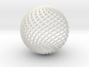 Twisted Ball in White Strong & Flexible