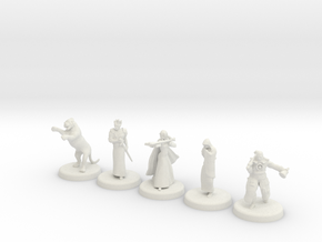 D&D Minis (Set two) in White Strong & Flexible