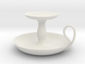 Candle Holder in White Strong & Flexible