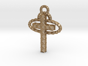 Cross in Matte Gold Steel