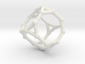 Truncated cube in White Strong & Flexible