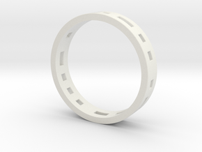 Morse Code Ring in White Strong & Flexible