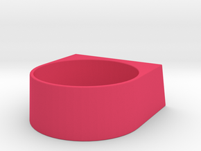 block Ring 20 in Pink Strong & Flexible Polished
