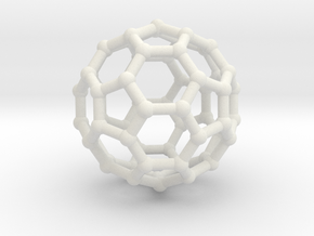 Truncated icosahedron in White Strong & Flexible