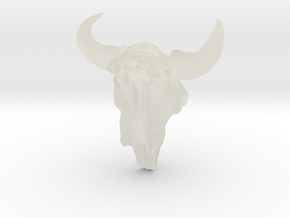 Bison Skull 5.2 cm in Transparent Acrylic