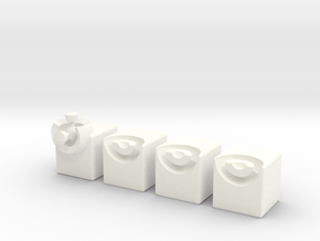 Minimis 2x2x1 (solid) in White Strong & Flexible Polished