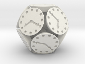Dodclock Die (3 cm) in White Strong & Flexible