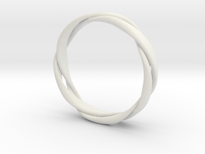 5-Twist Ring in White Strong & Flexible