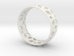 geometric ring 1 in White Strong & Flexible