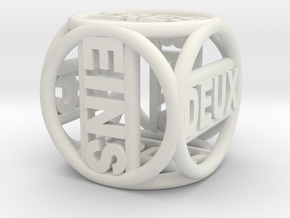 Text Dice   16mm in White Strong & Flexible