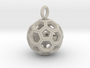 Soccer Ball with Dutch Soccer Shoe Inside in Sandstone