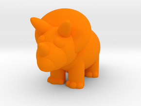 Triceratops (Nikoss'Dinosaurs) in Orange Strong & Flexible Polished