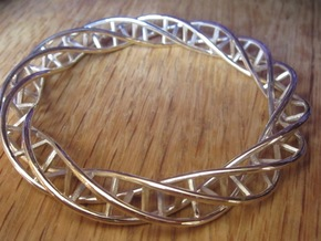 Double DNA Bracelet (63 mm) in Polished Bronze