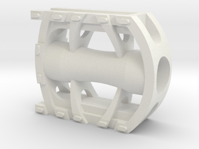 Bicycle Pedal 1/2 scale in White Strong & Flexible