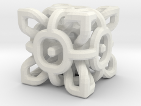 Complex Cube 2cm in White Strong & Flexible