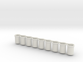 Concrete Pipes - 6 foot - Z scale in White Strong & Flexible