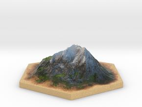 Catan_mountain_hexagon in Full Color Sandstone
