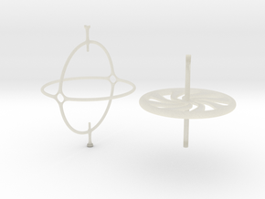Classic Gyroscope in Transparent Acrylic