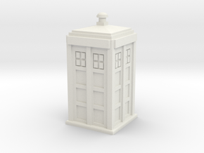 TARDIS (simple) in White Strong & Flexible
