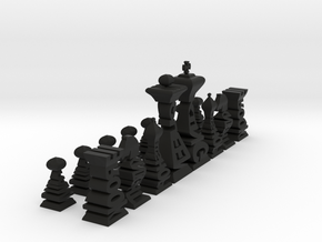Typographical Chess Set in Black Strong & Flexible
