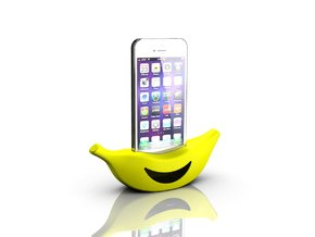 Banana cradle for iPhone 5s in Yellow Strong & Flexible Polished