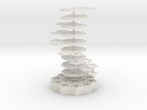 Girih Tile - Double Helix in White Strong & Flexible