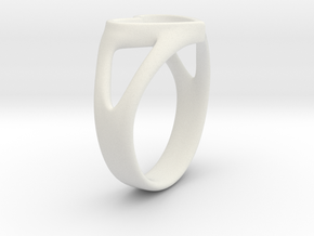 Caterina Heart ring in White Strong & Flexible