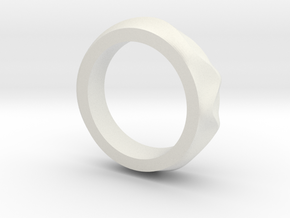 Dune ring in White Strong & Flexible