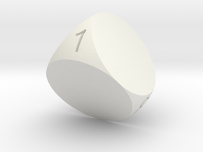 D4 Sphere Dice in White Strong & Flexible
