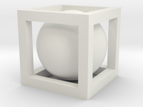 Small Ball In Box in White Strong & Flexible
