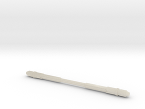 1:6 Scale Combat Glaive Part 1 in White Acrylic