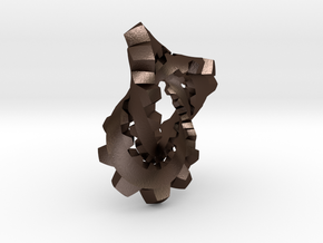 Knotted Cog (small) in Matte Bronze Steel