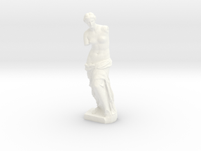 "Venus de Milo (4.8"" tall) in White Strong & Flexible Polished"