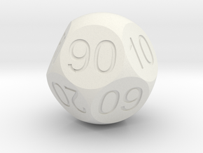 D Percent Sphere Dice in White Strong & Flexible