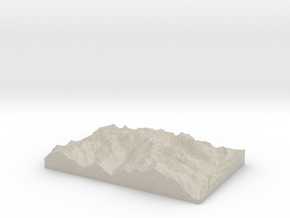 Model of Unicorn Glacier in Sandstone