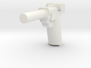 Luger P 08 in White Strong & Flexible