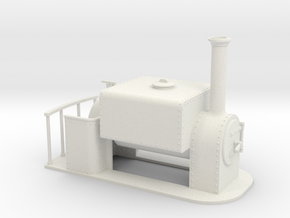 On16.5 square saddle tank loco  in White Strong & Flexible