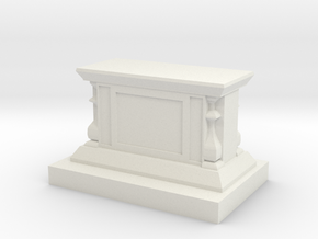 25x55mm Display Pedestal in White Strong & Flexible