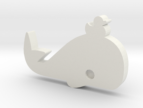 DuckWhale Lapel Pin in White Strong & Flexible