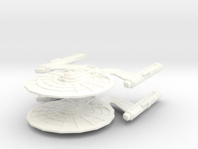 Marrick Class Cruiser (2 ship set) in White Strong & Flexible Polished
