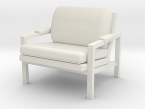 1:24 Metal Frame Chair in White Strong & Flexible