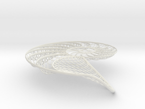 Nautilus Shell Structure in White Strong & Flexible