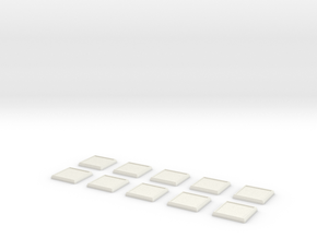 Square Model Base 1 Inch X10 in White Strong & Flexible