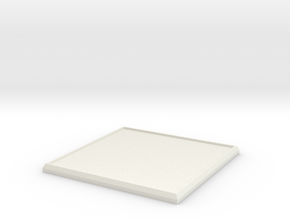 Square Model Base 55mm in White Strong & Flexible