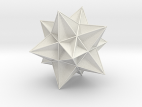 Great Icosahedron in White Strong & Flexible